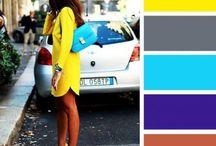 combinações das cores