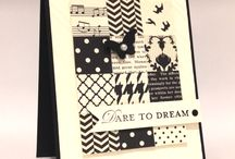 black and white cards