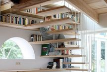 Bookcases and stairs: a good combination
