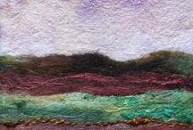 needle felted artwork