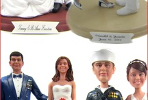 Military Cake Toppers / Custom military wedding cake toppers by http:/www.BobbleGr.am.  Custom sculpted to look like the bride and groom.