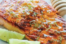 Salmon honey glazed