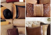 Accent Pillow and Throw Pillows / Accent pillows and throw pillows for floors and furniture.  Leather and fabric pillows add lots to your space.  Color, texture and designer looks.