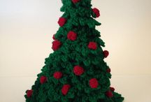 Crochet Christmas / My grandmother and I make these crocheted Christmas tree's together.