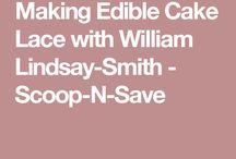 Edible cake lace