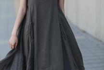 лен платье