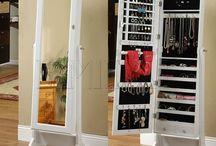 Espejos con gabinete para joyeria