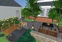 3d landscape designs / 3D landscape designs. Cant visualize a 2d plan? I can change that. Taking the birds eye view to a fly through,