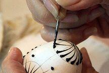 kraslice / výroba, vrtání a malování kraslic