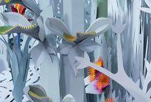 Papercut micro landscapes