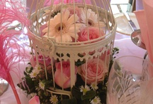 """""""What dreams are made of..."""" / Pastel pink wedding theme, with birdcages & feathers"""