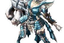 Monster hunter armor/weapon