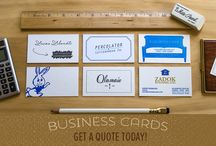 Letterpress Business Cards / Ready to take your business card to the next level?
