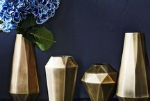 Vases brass