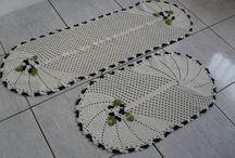 Tapetes de crochê inspiração