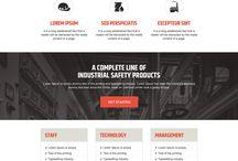 industrial landing page design