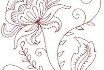 Embroidery and pattern