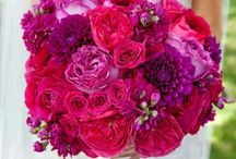 Hand tied bouquet reds
