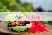 Meat Free Tacos / Participating in #MeatlessMondays? Or just trying to make #TacoTuesday more colorful? Look no further than our delicious vegetarian taco recipes.  / by The Latin Kitchen