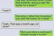 text messages.. :D