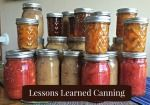 Canning and preserving.