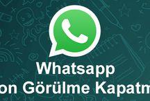 Whatsapp Son Görülme Kapatma, Gizleme
