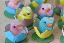 Pink, Yellow, & Blue Vintage Easter Color