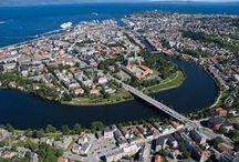 TRONDHEIM AND THE RIVER NID  THE CENTER