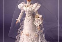 Bridal doll crochet