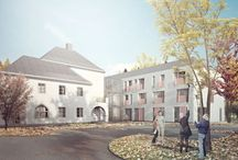 Design for Aging / Nursing Home in Otwock, Poland - concept design by Archimed Architecture, rendering