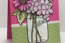 stamping up bouquet of flowers