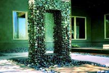 Gabinon & retaining wall
