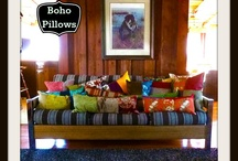 Pillow Love / Bohemian inspired decor with pillows