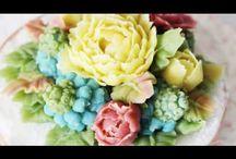видео цветы для тортов