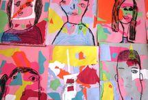 Matisse- Lessen Beeldend voor kinderen / Doe hier ideeën op om thuis of op school aan de slag te gaan! Mevrouw Merel inspireert graag kinderen, ouders en leerkrachten.