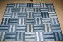 Синие джинсовые одеяла