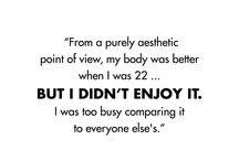 """The Love Quotes Celebrity Quotes : """"From a purely aesthetic point of view, my body was better when I was 22……"""