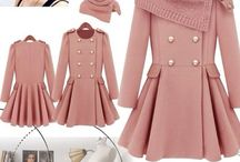 pink and purple coats