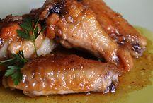 Alas de pollo con cerveza y miel