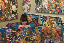 Arte Vegana. Lynda Bell ! / Lynda Bell. Nas obras, ela retrata seu próprio caminho até se tornar vegana com histórias  infantis, já que a relação das crianças com os animais costuma ser de carinho e amor.