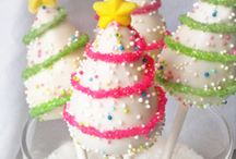 Christmas cupcakes and pops