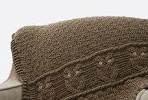 Вязание, пледы, подушки