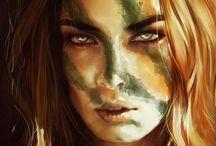 fantasy female portraits