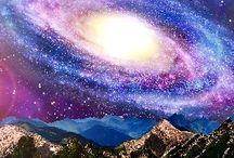 Galaktyka, krajobrazy, niebo / Wszystko co w tytule w różnym formacie i kształcie prawdziwe lub fikcyjne