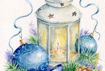 Imagens - Natal 1 / Pintura, ilustração e arte decorativa