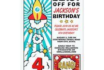 Kids Birthday Party Invitations / Fun, Unique Birthday Party Invitations for babies, kids and more
