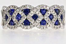 Sapphire diamond rings