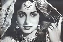 Indian celebrity women portraits / Some lovely classic celebrity women in  vintage style    portraits
