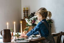 Slow Living | Sunday Lunch / We collaborated with Melanie Barnes of Geoffrey & Grace to depict the perfect slow family lunch scene with our linens.