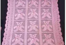 Colchas de bebe en crochet